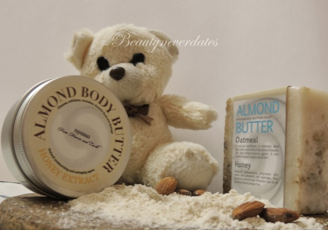 Nyassa Almond Handmade Butter soap with oatmeal and honey- Review