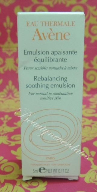 Eau Thermale Avene - Re-Balancing Soothing Emulsion -Review