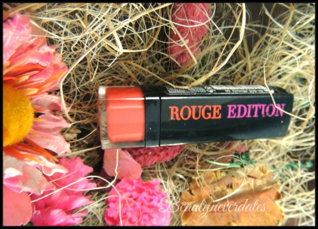 Bourjois Rouge Edition Lipstick - Orange Pop up Review and Swatches