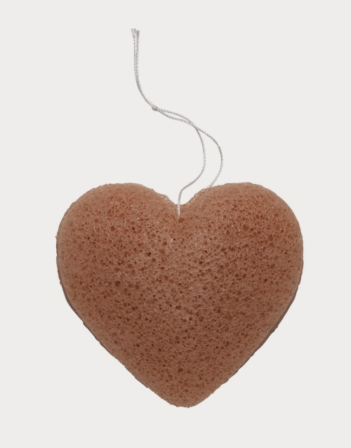 The Konjac Heart Sponge In French Pink Clay