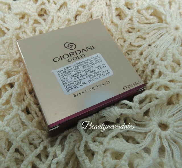 GIORDANI GOLD - Bronzing Pearls in Natural Radiance - Review and swatches