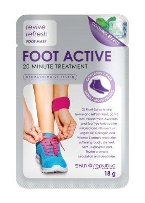 Keep your toots in tip-top shape with Skin Republic Foot Active Mask