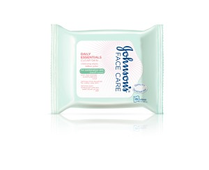 Johnson's Face Care Daily Essentials CLEAR SKIN Cleansing Wipes (for combination skin)